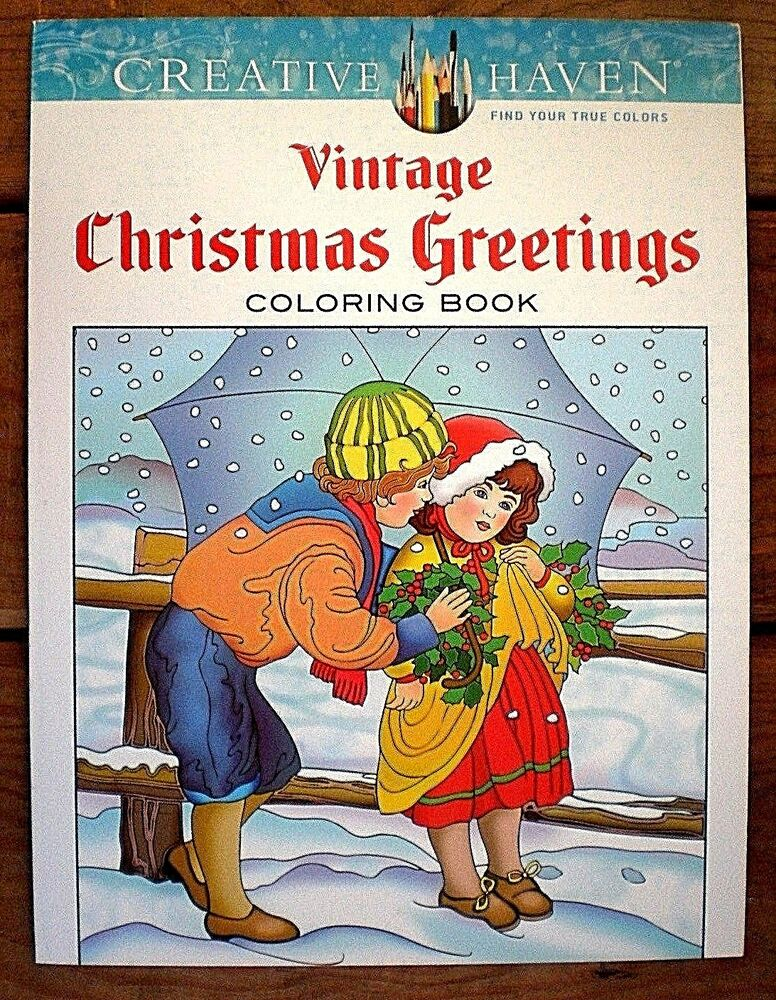 Dover Creative Haven VINTAGE CHRISTMAS GREETINGS Adult