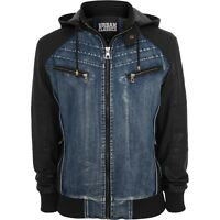 Urban Classics - HOODED DENIM Kunstleder Jacke denim blue
