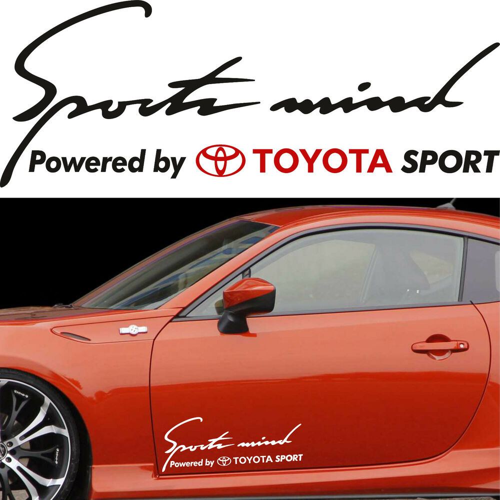 Sports Mind Powered By Audi Sport Vinyl Decal Sticker: Sports Mind Powered By TOYOTA SPORT #10 Decals Stickers