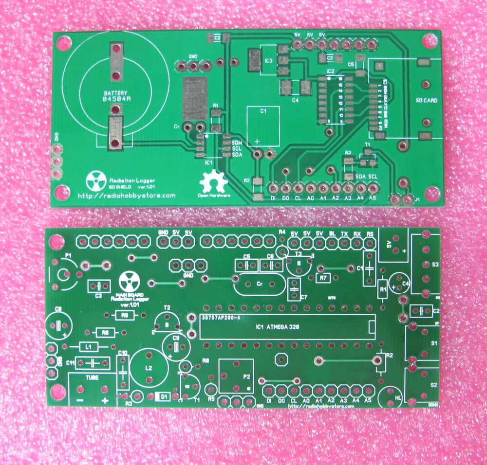 Pcb set for arduino ide diy geiger counter kit with sd