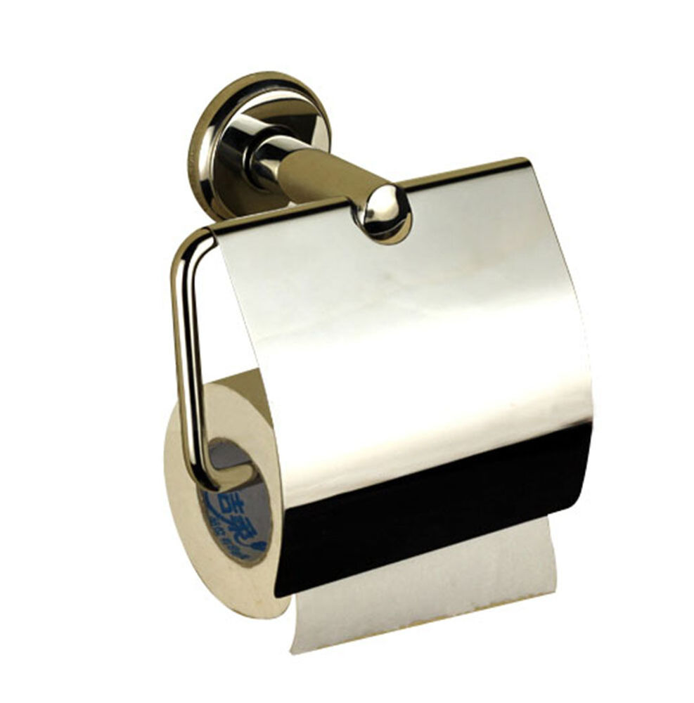 Wall mounted stainless steel bathroom toilet paper towel holder roll tissue box ebay - Tissue holder bathroom ...