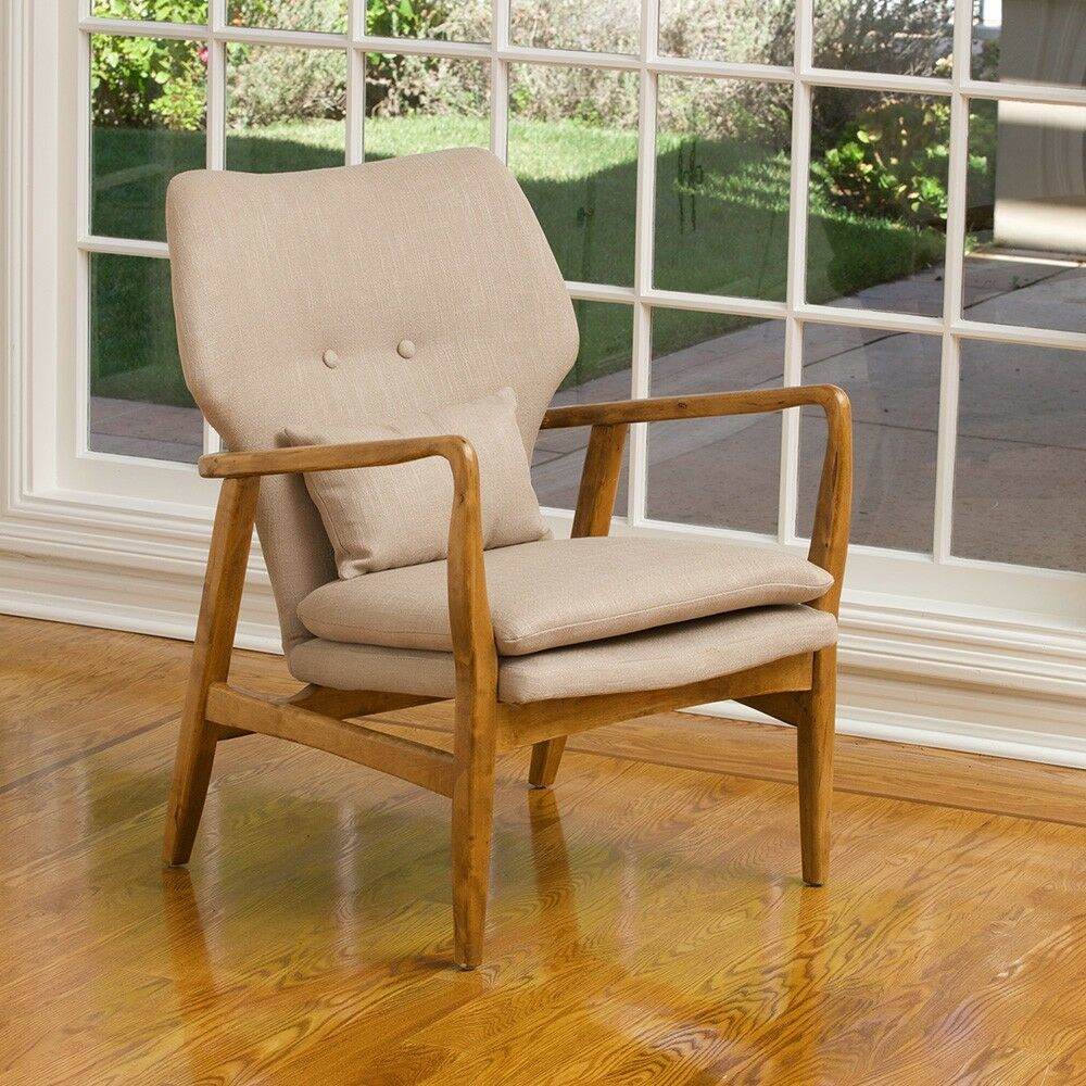 Mid Century Modern Armchairs: Modern Mid Century Art Deco Design Carved Wood Accent