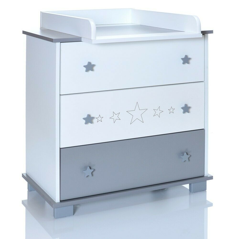 Baby Wooden Changing Table Greystars Chest Of Drawers