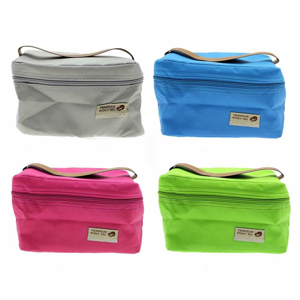 Insulated Carrying Bag : Mini small portable insulated picnic lunch box container