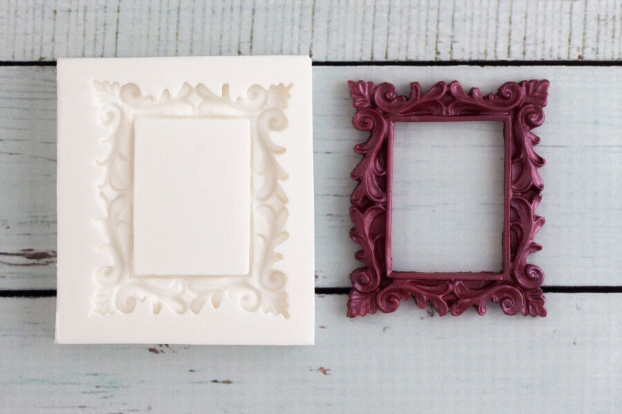 Silicone Mould Decorative Picture Photo Frame Food Safe