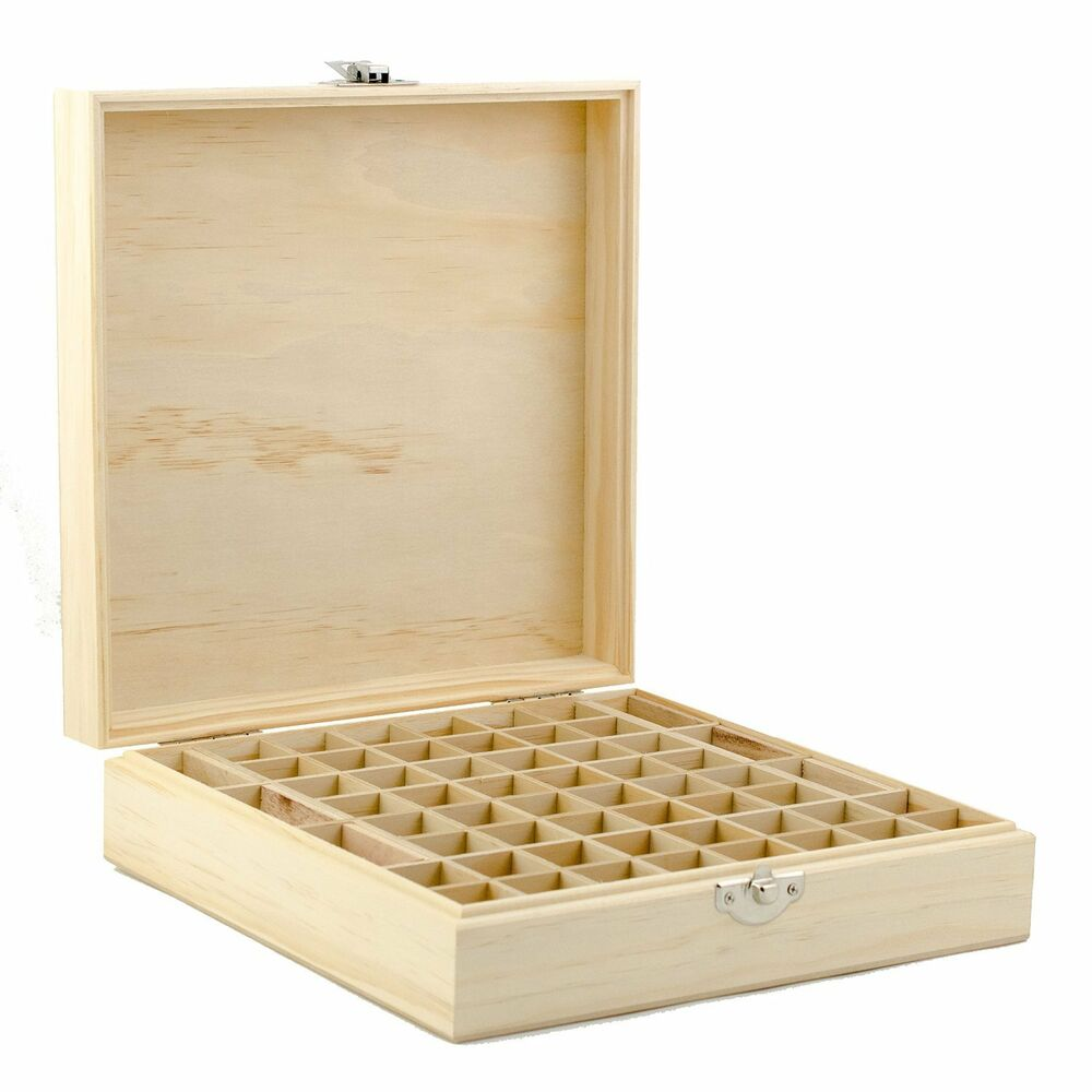 Decorative Wooden Boxes Australia : Wooden essential oil box holds ml