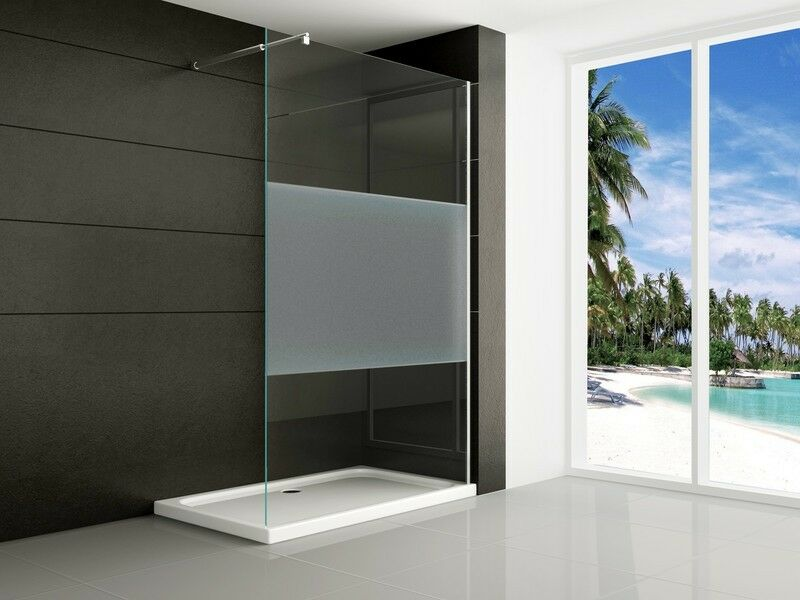 walkin 10mm glas duschwand duschabtrennung dusche duschtrennwand satiniert nano ebay. Black Bedroom Furniture Sets. Home Design Ideas