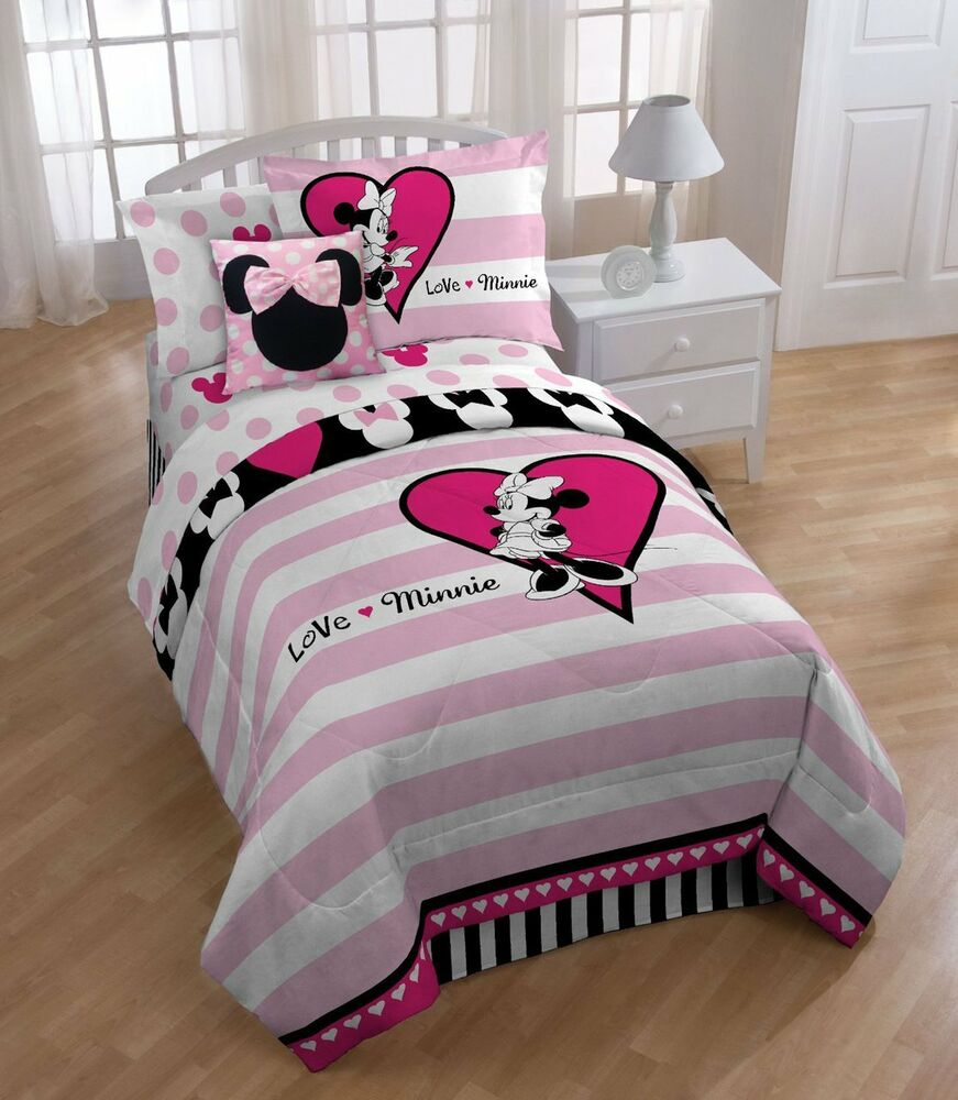 Disney Minnie Mouse Full Comforter Set Ebay