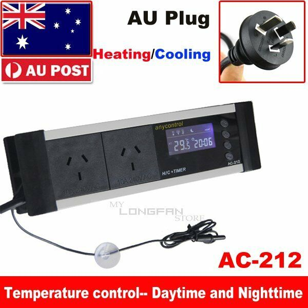 Digital Day Amp Night Reptile Thermostat Controller Timer 0
