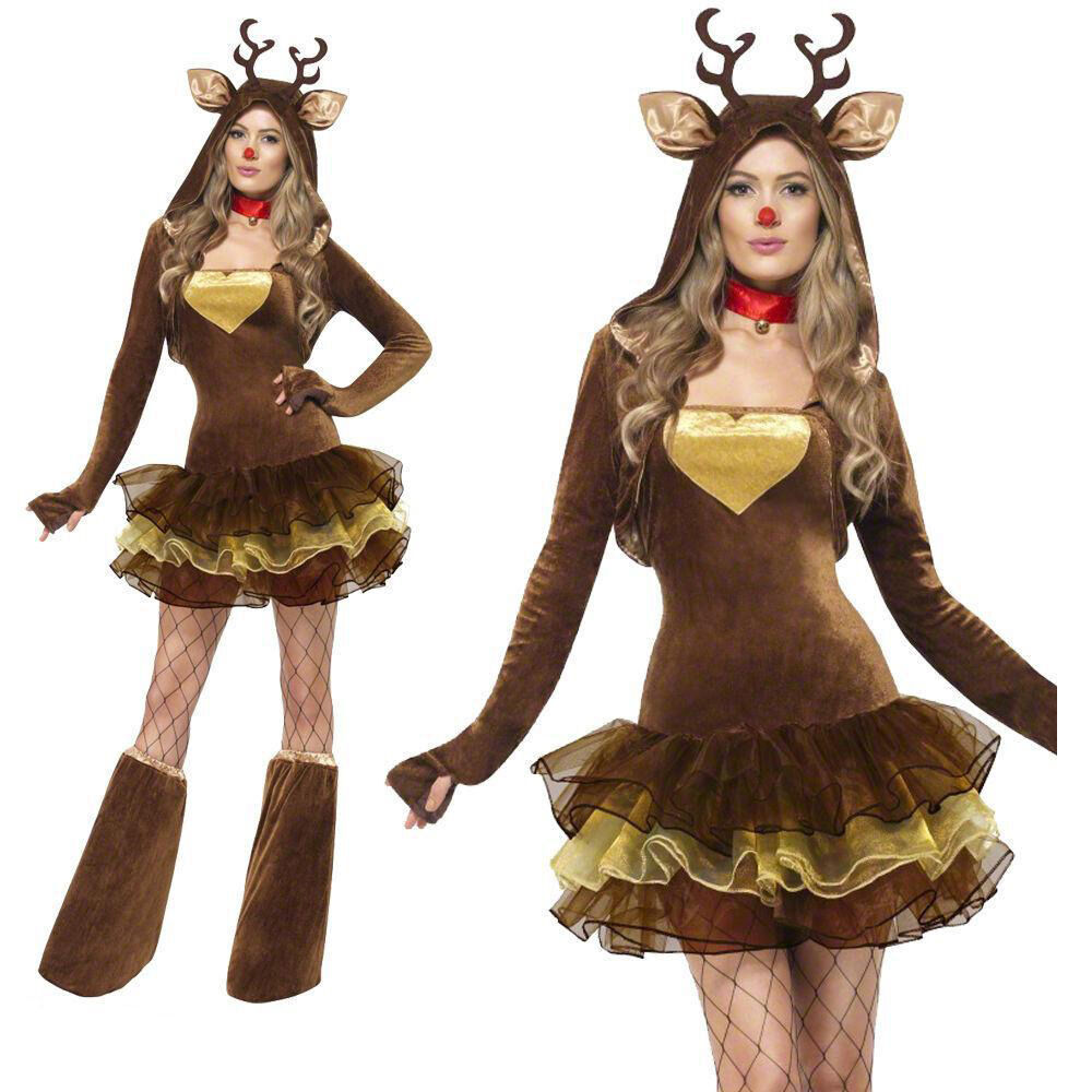 Christmas reindeer deer animal role ds costumes party dress evening