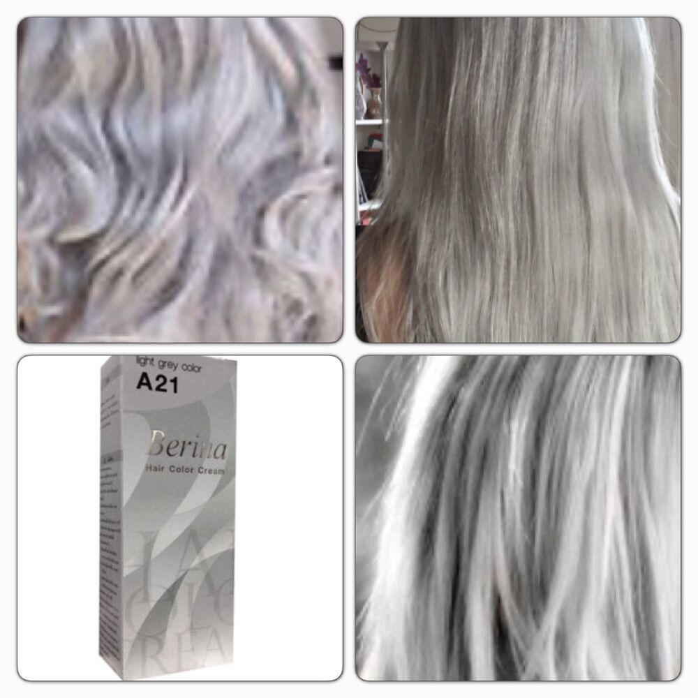 Berina A21 Light Gray Color Grey Silver Color Permanent
