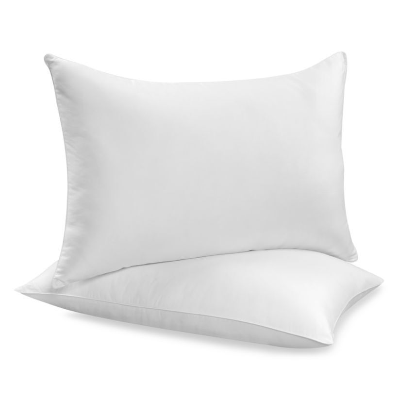 pack of 2 pillows luxury bounce back hollow fibre filling. Black Bedroom Furniture Sets. Home Design Ideas