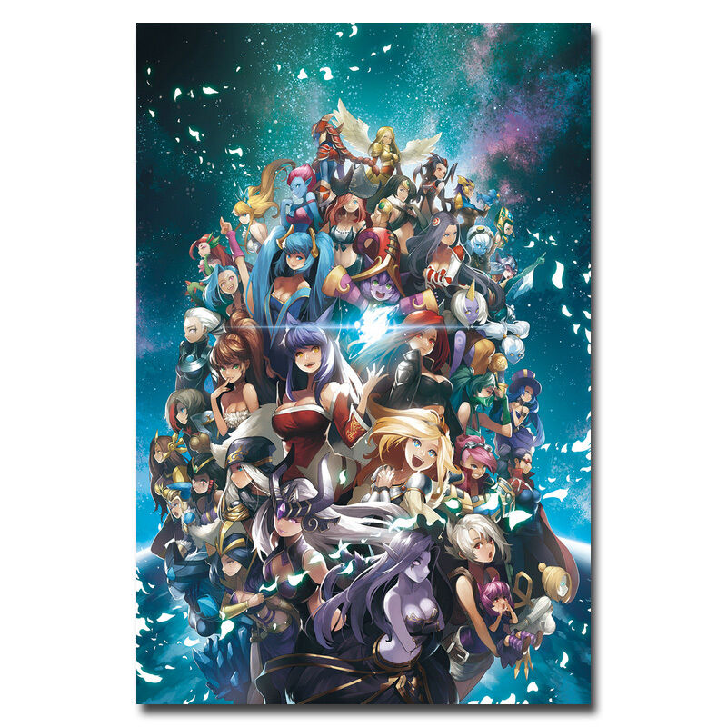League Of Legends All Heroes LOL Game Art Silk Wall Poster