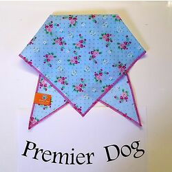 Pink Rose & Spots  Dog Bandana / Scarf - 3 sizes to choose from!