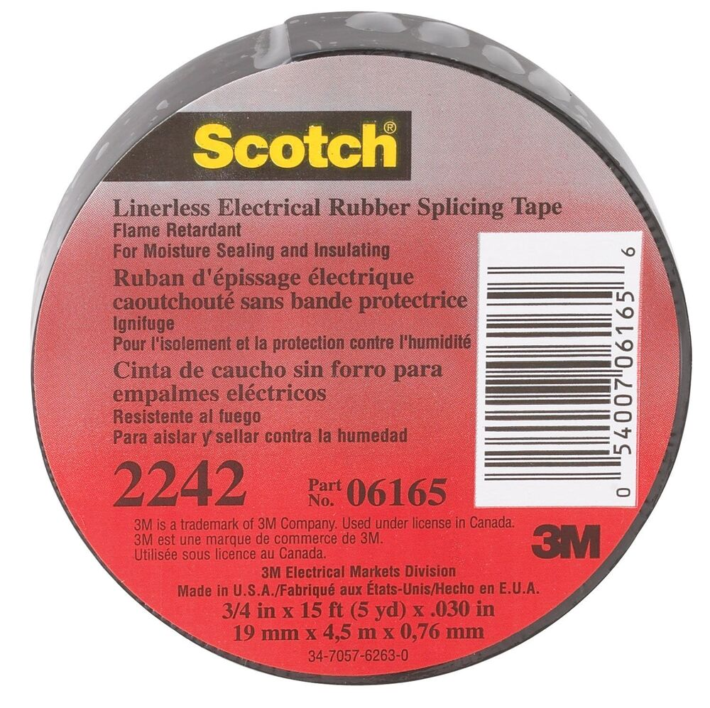 3m 2242 3 4x15ft Linerless Electrical Rubber Tape 2242 3 4