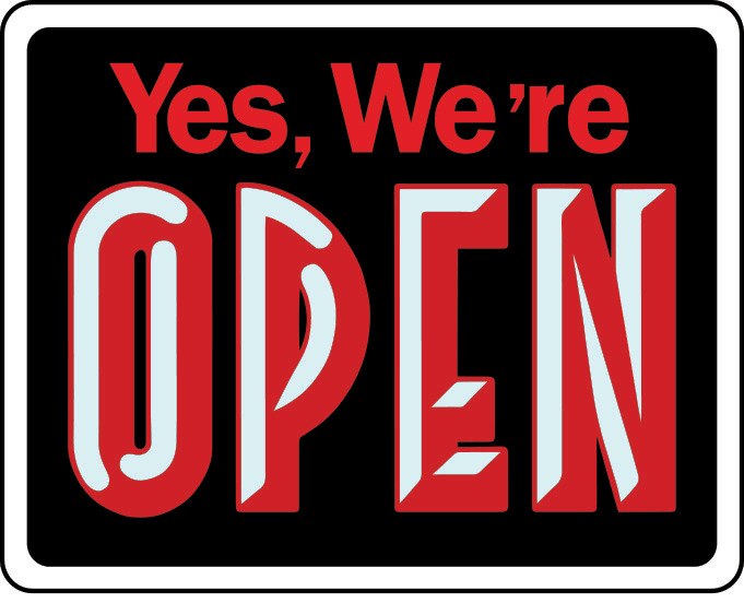 open closed big business sign store window new retail store business sign