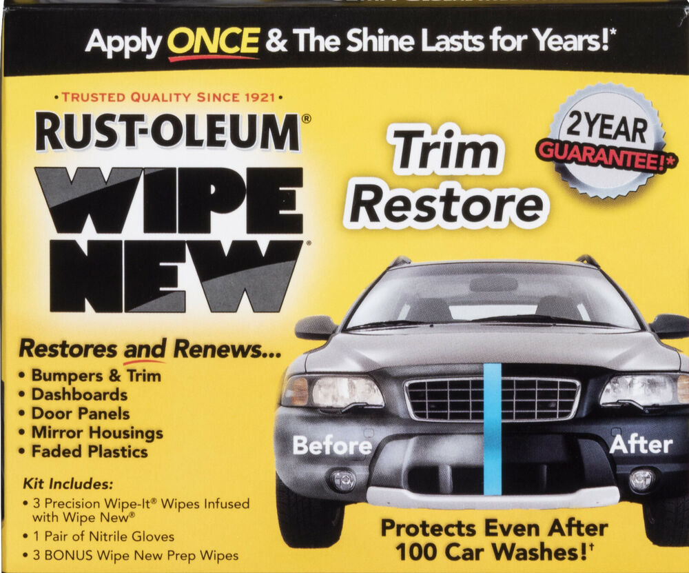 Car Plastic Restorer Wipe New