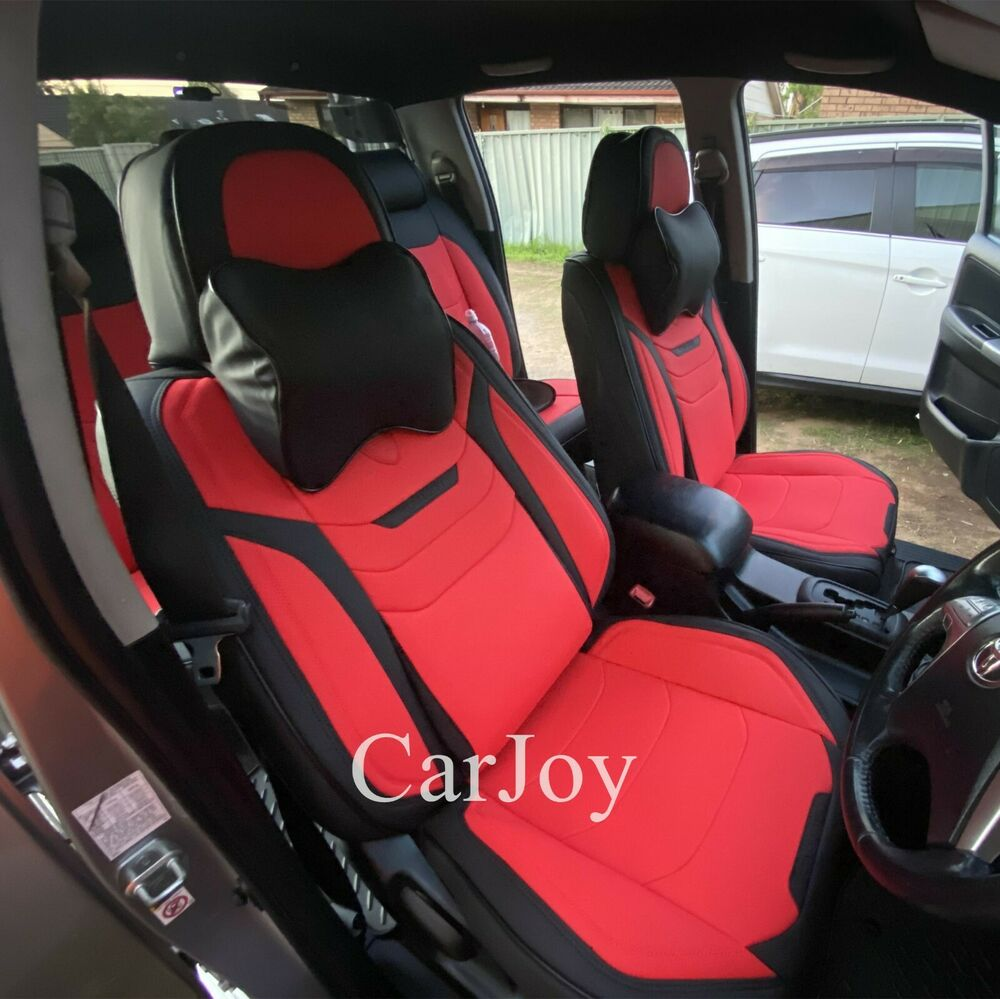 Pure Black Leather Car Seat Cover Mazda 3 6 CX3 CX5 CX7 Astina Demio Neo