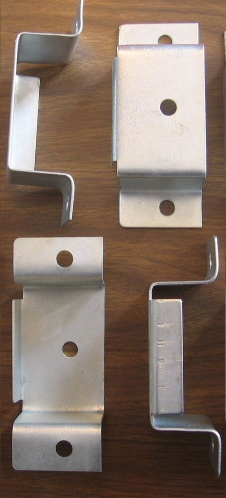 Stake bed pockets set of steel bolt on accepts wood