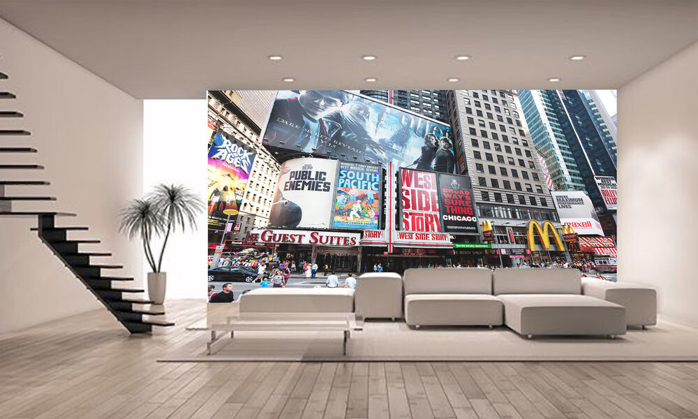 Broadway at times square wall mural photo wallpaper giant for Broadway wall mural