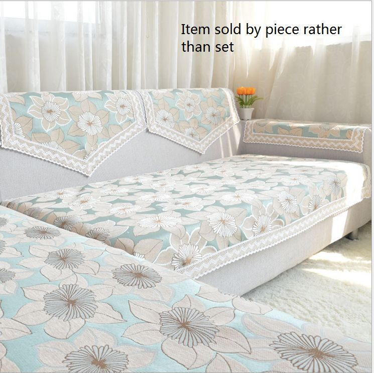 Sectional Sofa Covers With Recliners: Chenille Lace Custom Sectional Sofa Couch Cover Furniture