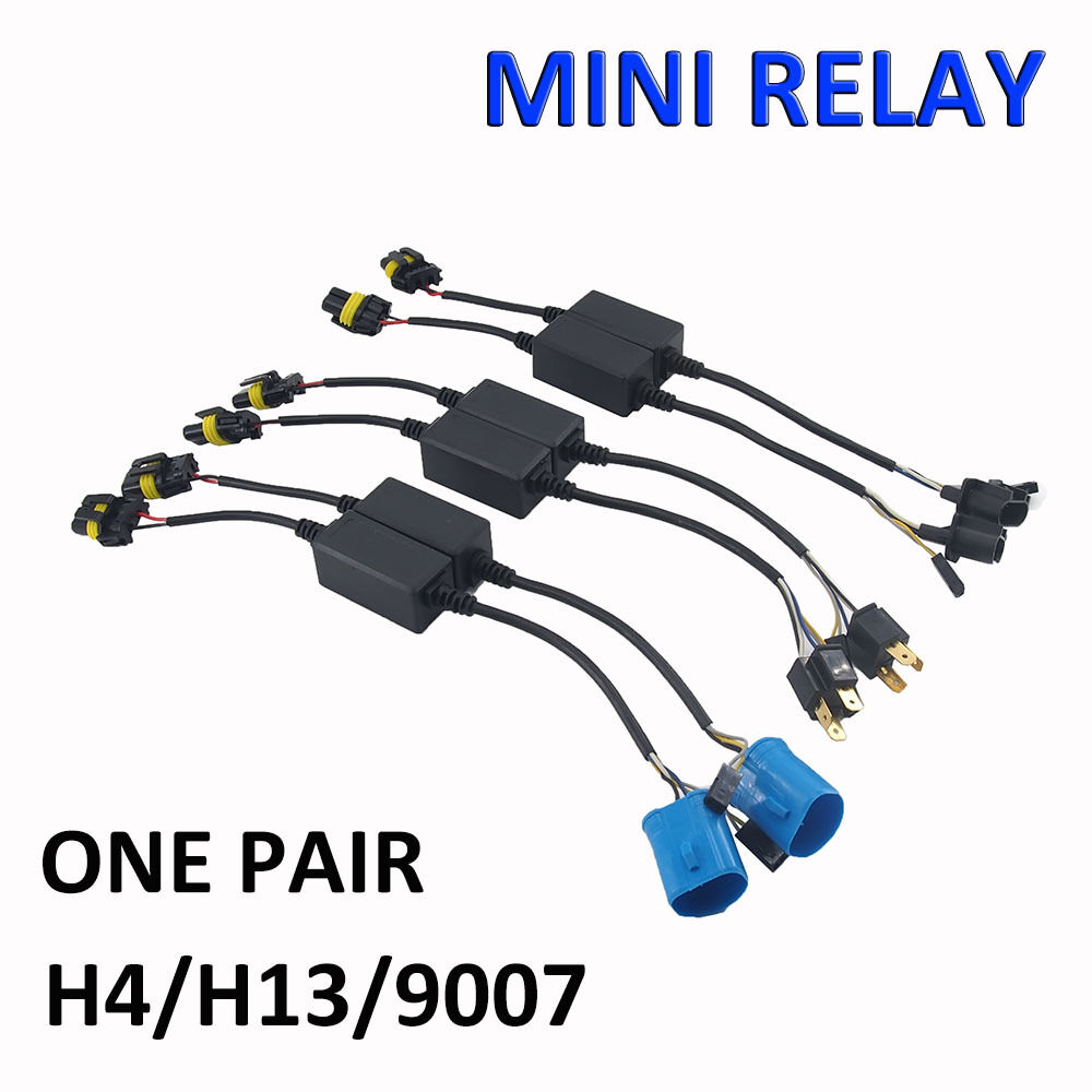 s l1000 easy relay harness for h4 h13 9007 hi lo bi xenon hid bulbs wiring hid 12v wiring harness controller at creativeand.co