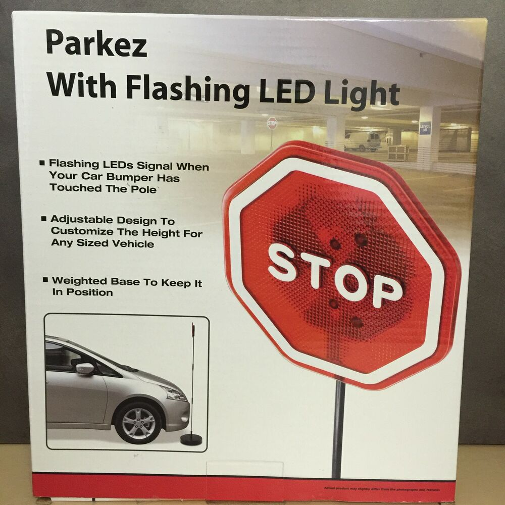 NEW, Parkez With Flashing Red LED Light Garage, Parking