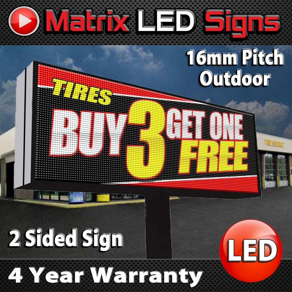LED Sign Outdoor Full Color Double Sided LED Programmable Message Digital Sign | eBay