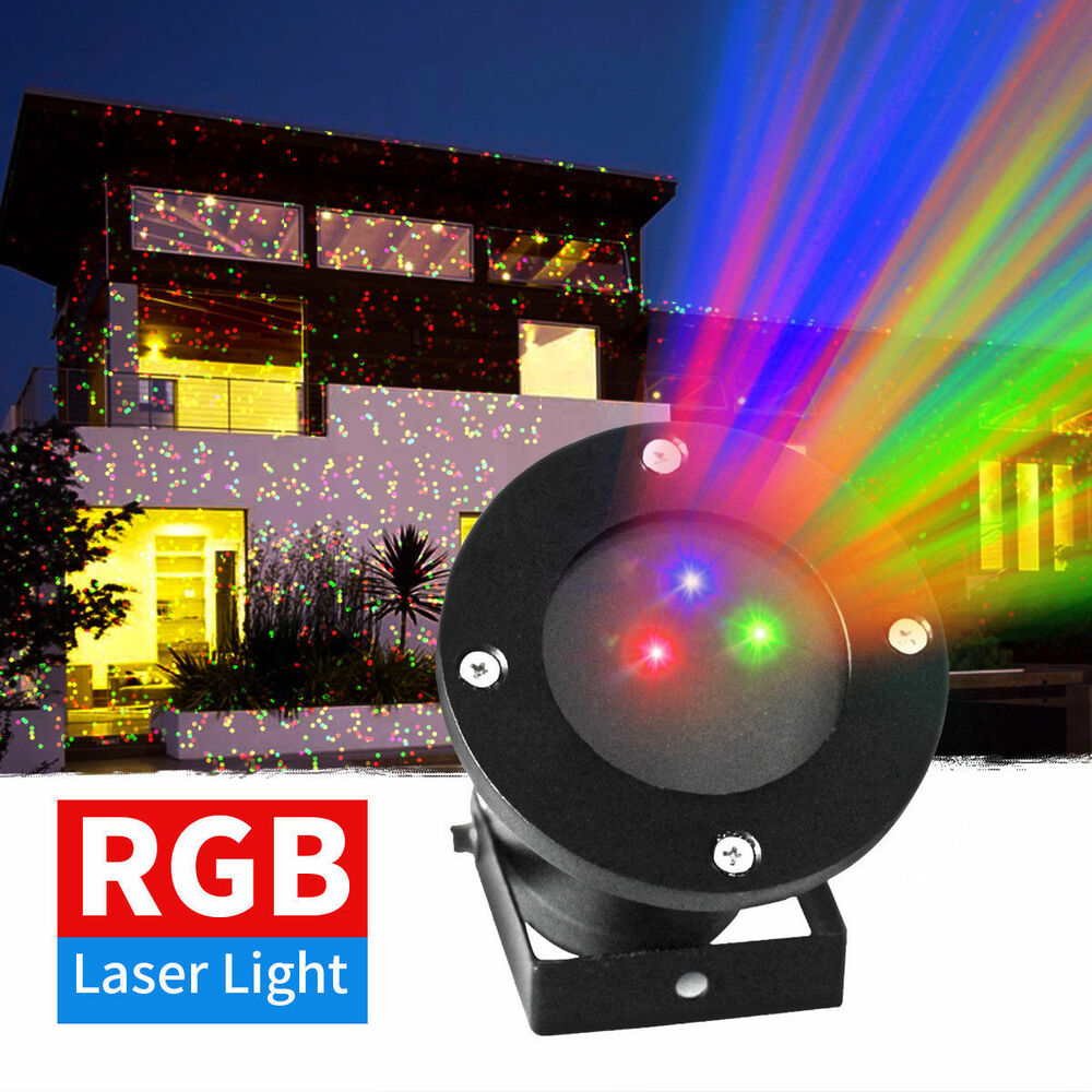 Outdoor RGB LED Landscape Laser Projector Light Christmas Spotlight Moving Lamps | eBay