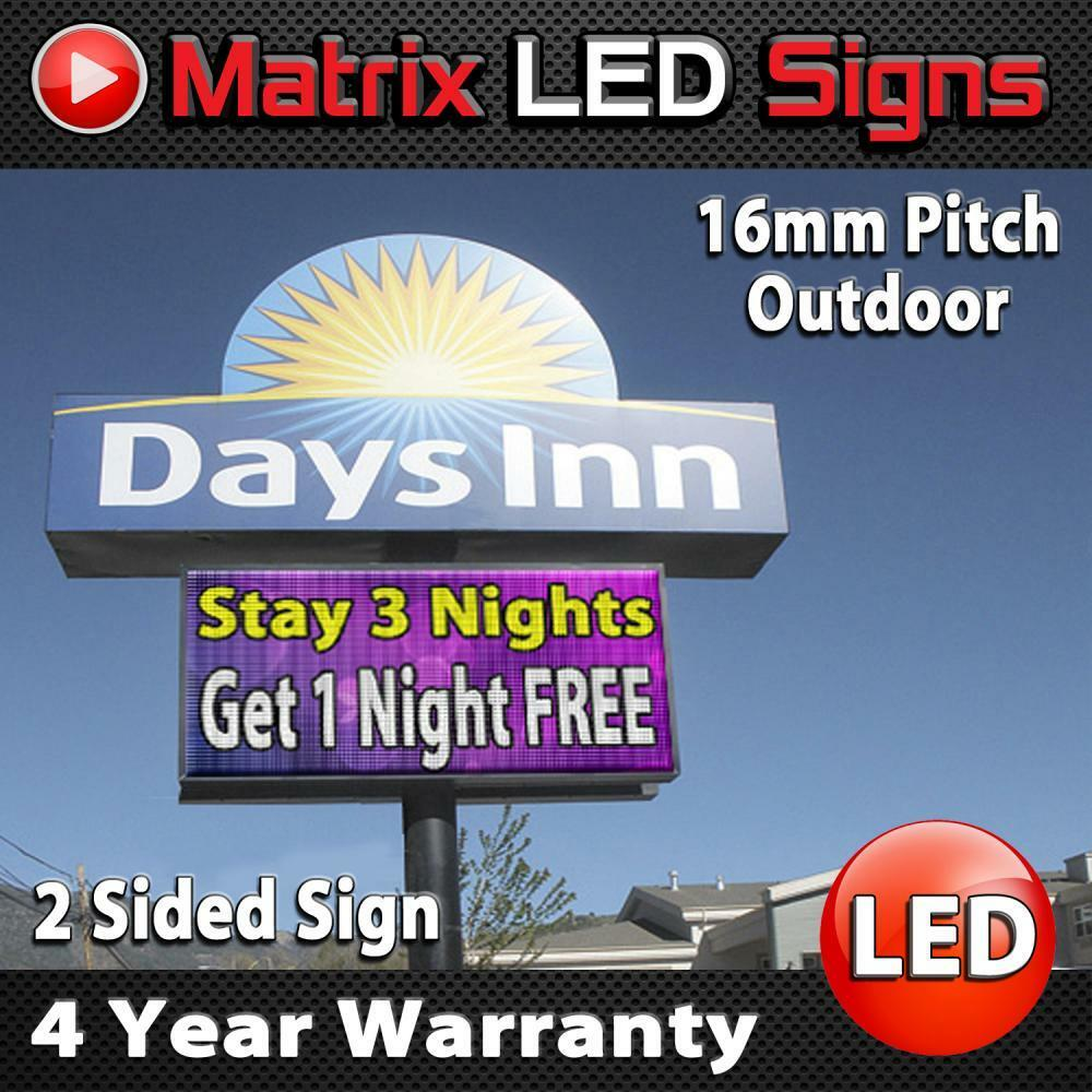 LED Sign Outdoor Full Color Double Sided LED Programmable Message Digital Sign   eBay