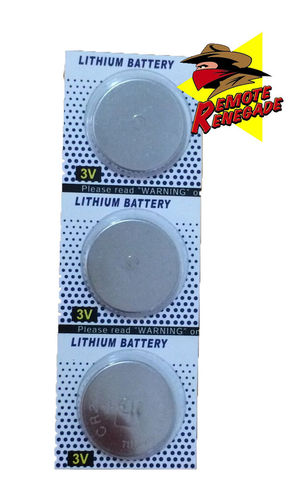 3 Replacement Batteries For The 373lm Garage Door Remote