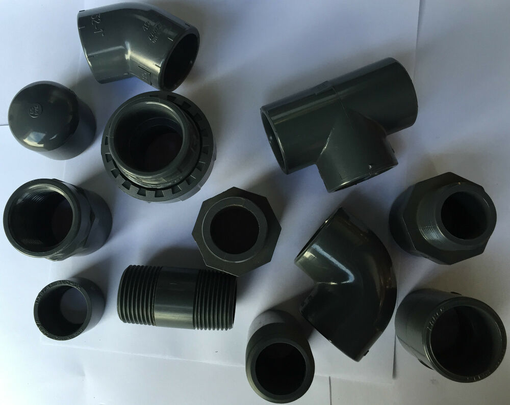Pvc Pipe Fittings : Pvc solvent weld pipe fittings quot fish pond