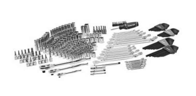 husky mechanics tool set wrenches new 268 piece kit case sockets ratchet tools ebay. Black Bedroom Furniture Sets. Home Design Ideas