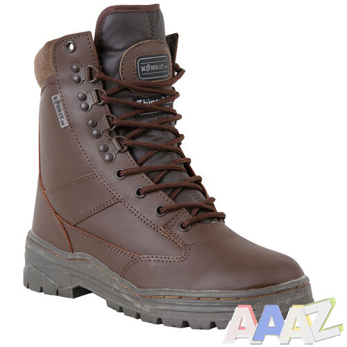 brown army leather combat patrol boots