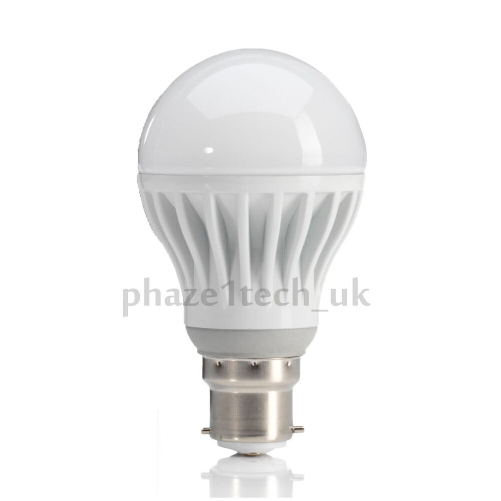 Led Light Bulb B22 Bayonet 12w 60w Cool White Daylight 5500 6000k Ebay