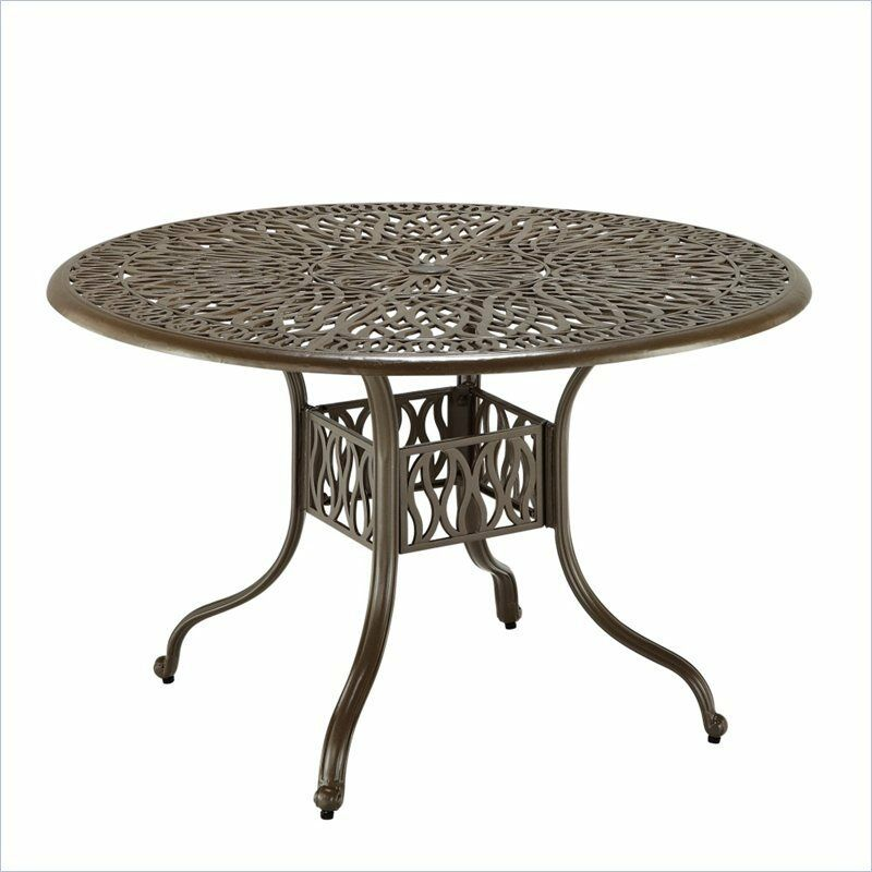 Outdoor patio furniture home styles floral blossom 42 inch for 42 inch round dining table