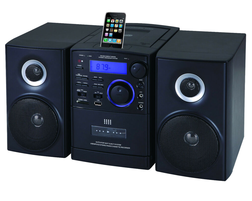 supersonic sc 805 mp3 cd player ipod docking usb sd aux. Black Bedroom Furniture Sets. Home Design Ideas