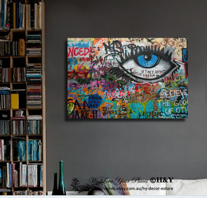 Graffiti Stretched Canvas Print Framed Wall Art Home Office Decor Painting Gift Ebay