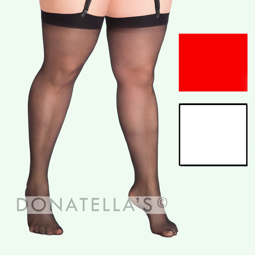 Abuse family Plus size thigh high pantyhose