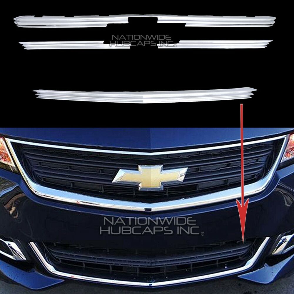 2014 2017 Impala Ls Chrome Snap On Grille Overlay Front