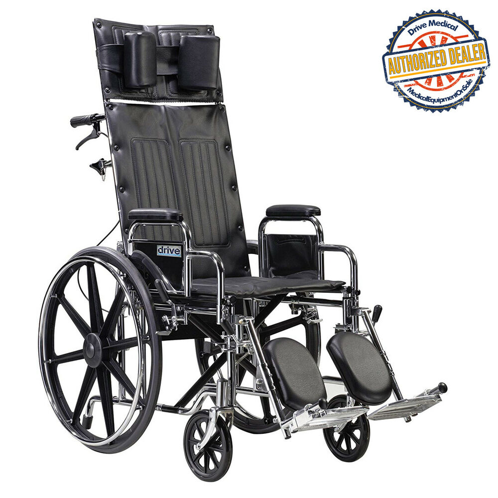 Std22rbdda sentra reclining wheelchair 22 quot seat chrome ebay