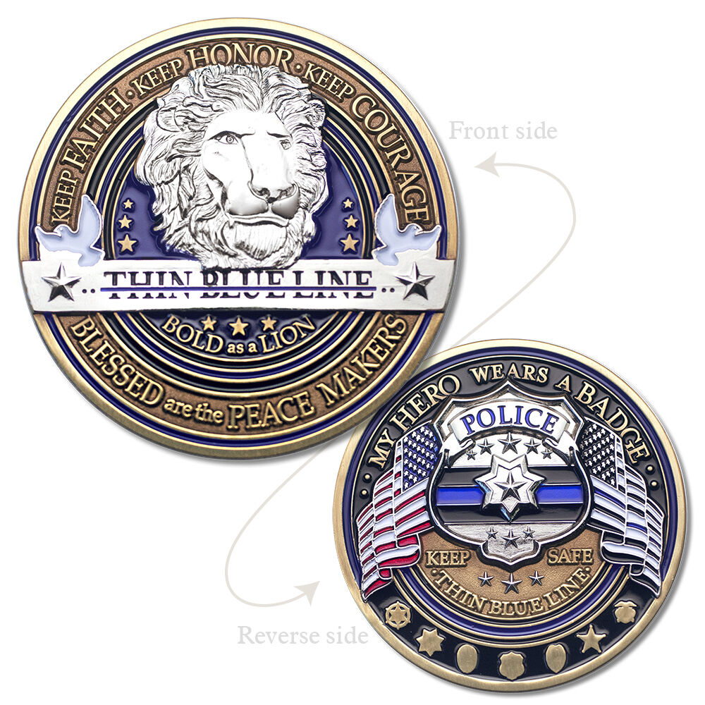 Law Enforcement Appreciation Challenge Coin 183 Police Thank You 183 Thin Blue Line Ebay