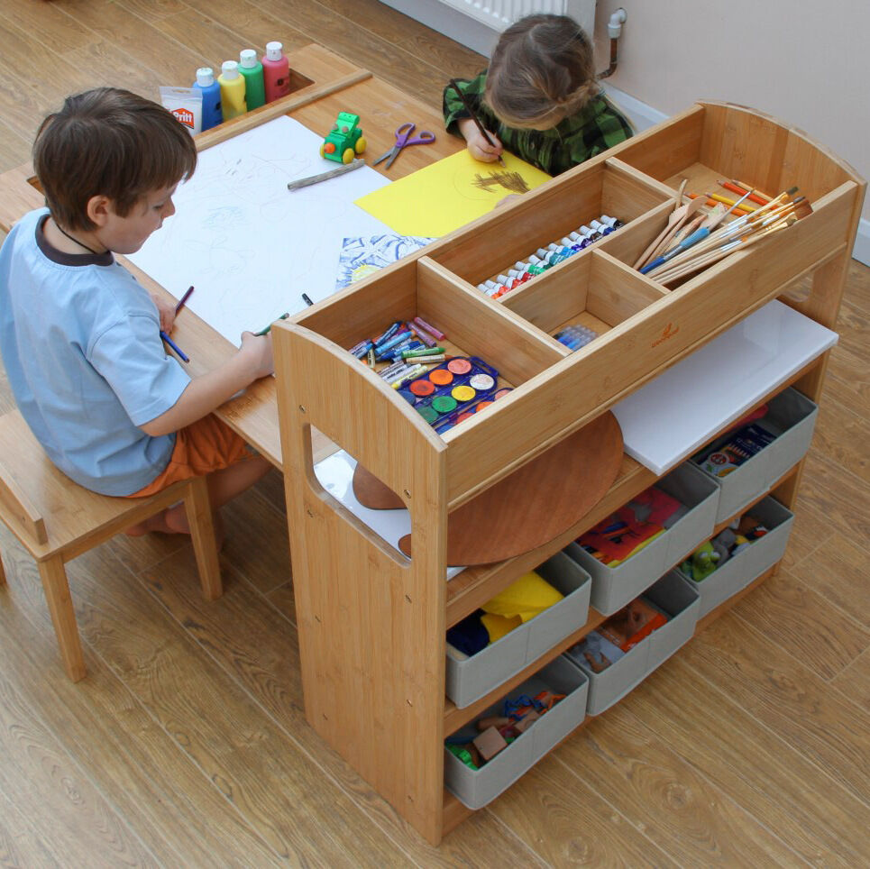 childrens table and two chairs arts and crafts activity table