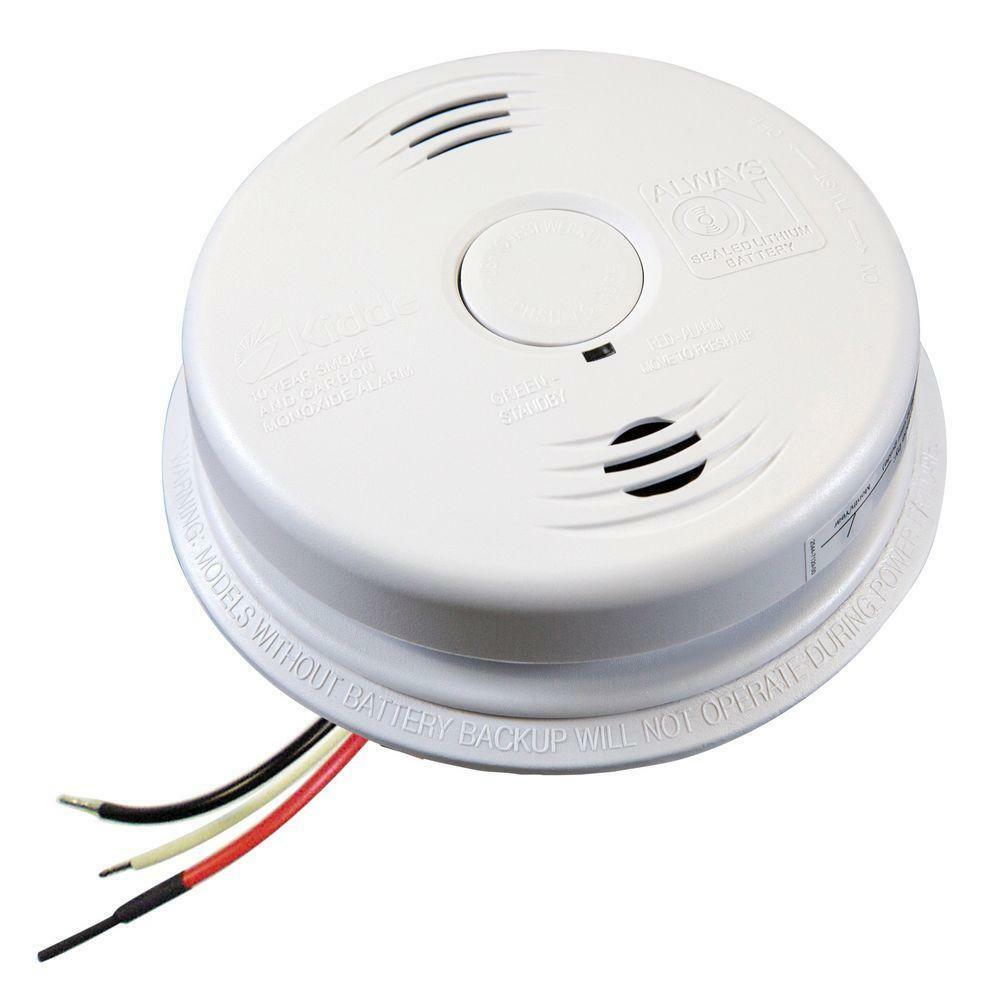 kidde smoke and carbon monoxide alarm hardwired with 10 year battery backup ebay. Black Bedroom Furniture Sets. Home Design Ideas