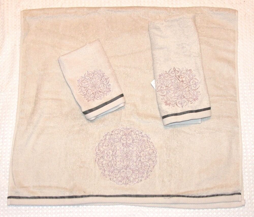 Croscill Hand Towels: NEW NOMAD BATH HAND & FINGERTIP TOWEL SET BY CROSCILL
