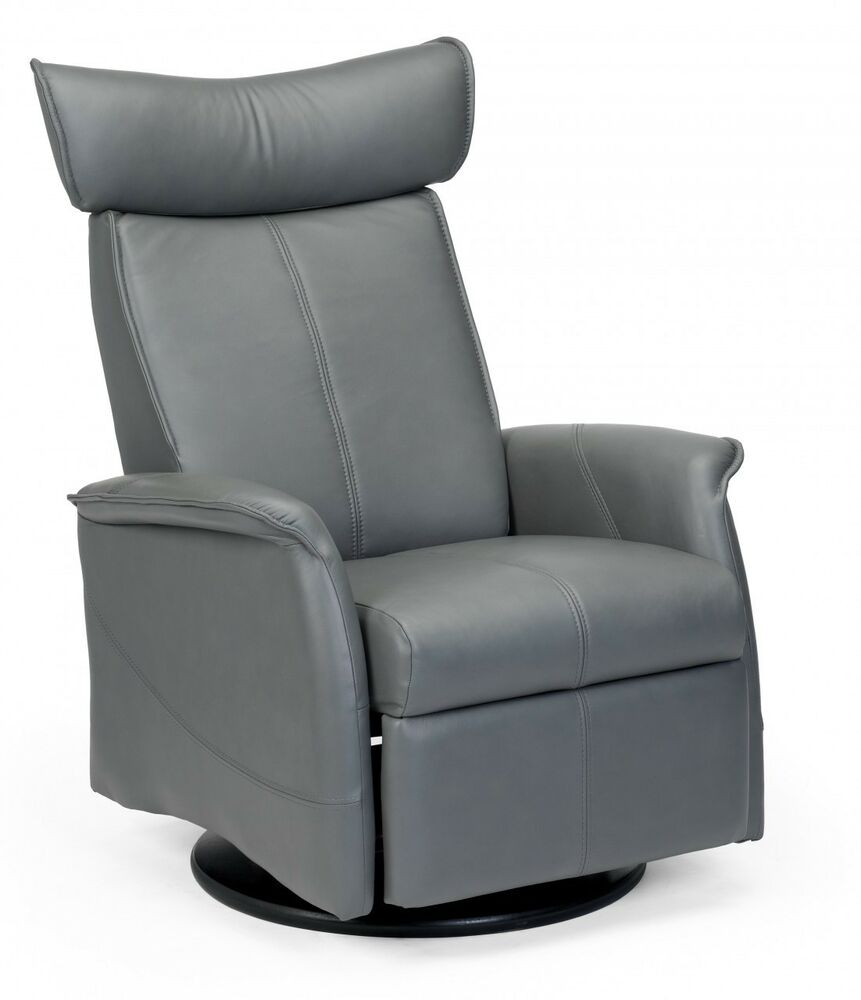 New fjords london swing relaxer leather recliner chair for for Ebay living room chairs