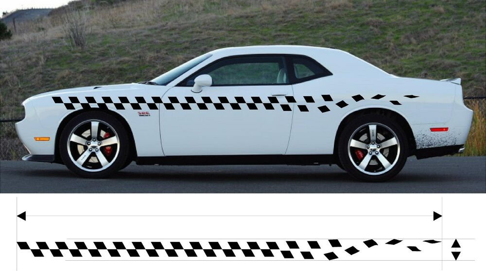 Vinyl Graphic Checkered Decal Car Truck Kit Custom Size