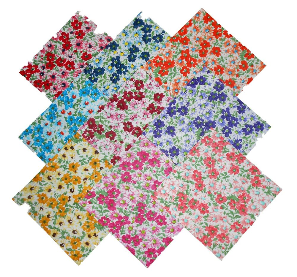 18 10 Quot Quilting Fabric Layer Cake Squares Flower Patch 2