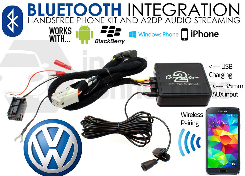 vw golf mk5 mk6 bluetooth streaming adapter ctavgbt009 aux mp3 iphone sony htc ebay. Black Bedroom Furniture Sets. Home Design Ideas