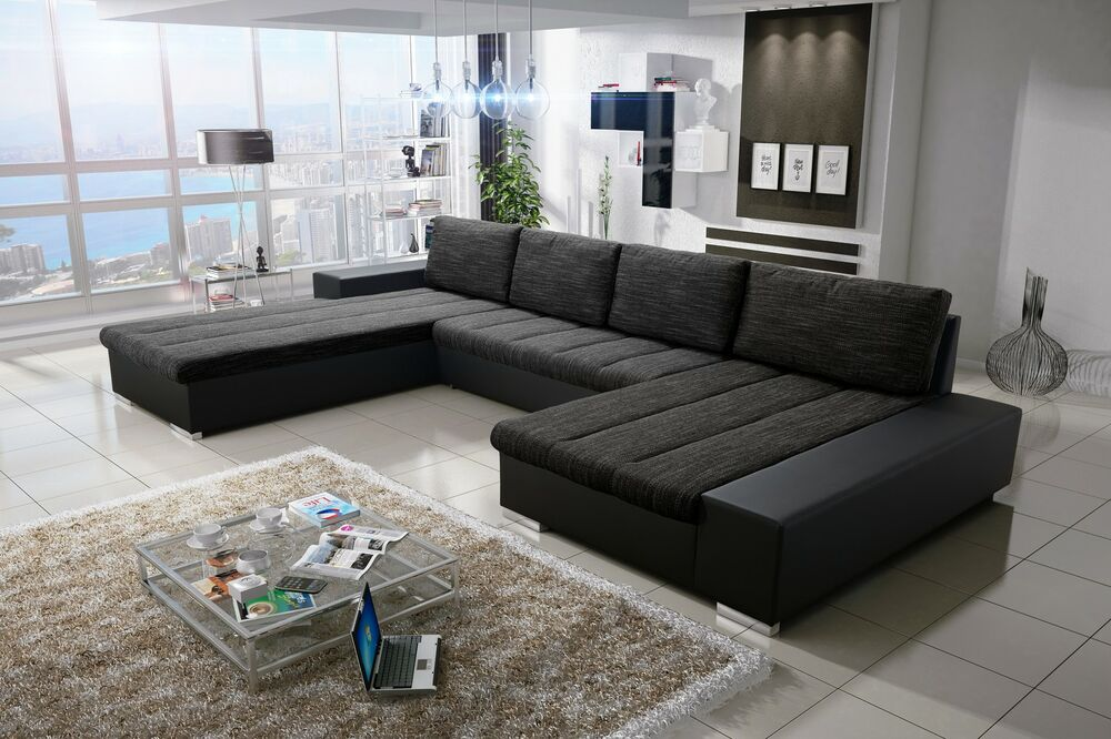sofa couchgarnitur couch sofagarnitur verona 3 u wohnlandschaft schlaffunktion 4260365382425 ebay. Black Bedroom Furniture Sets. Home Design Ideas